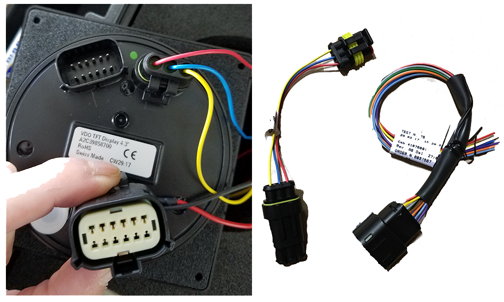 VDO Harness connection